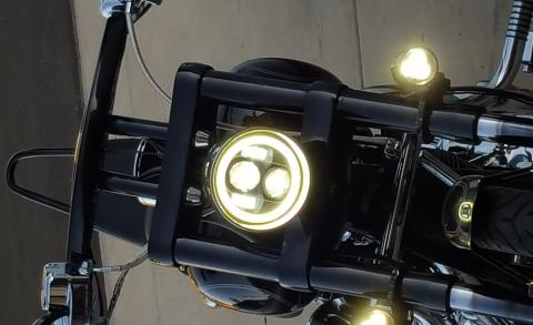 5-3/4 Led Headlight with halo '07 Softail