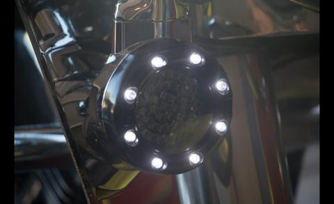 Led Headlight with Running lights on Road King